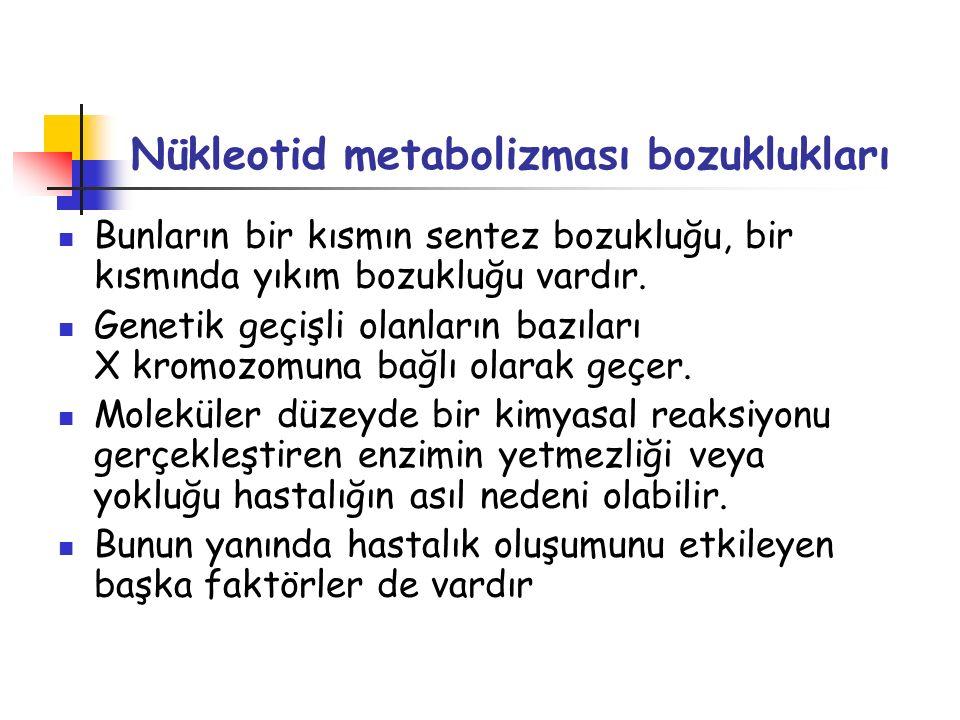 Nükleotid metabolizması bozuklukları