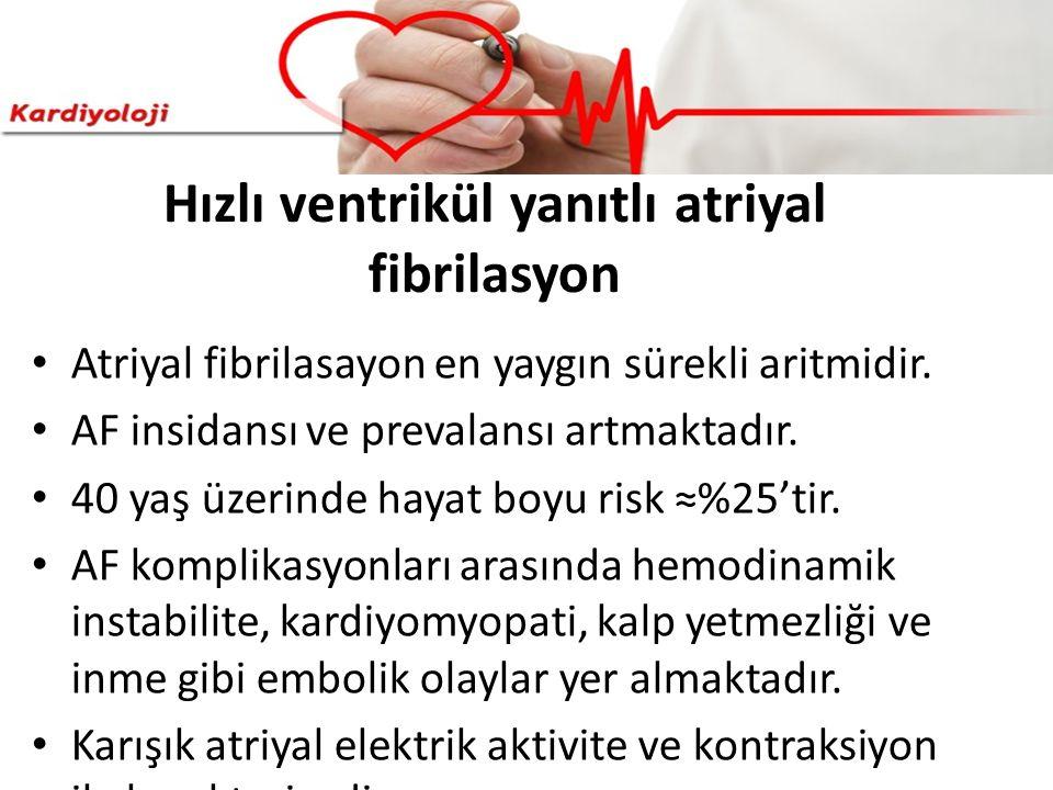 Hızlı ventrikül yanıtlı atriyal fibrilasyon