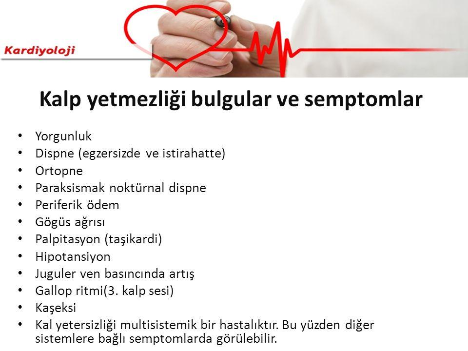 Kalp yetmezliği bulgular ve semptomlar
