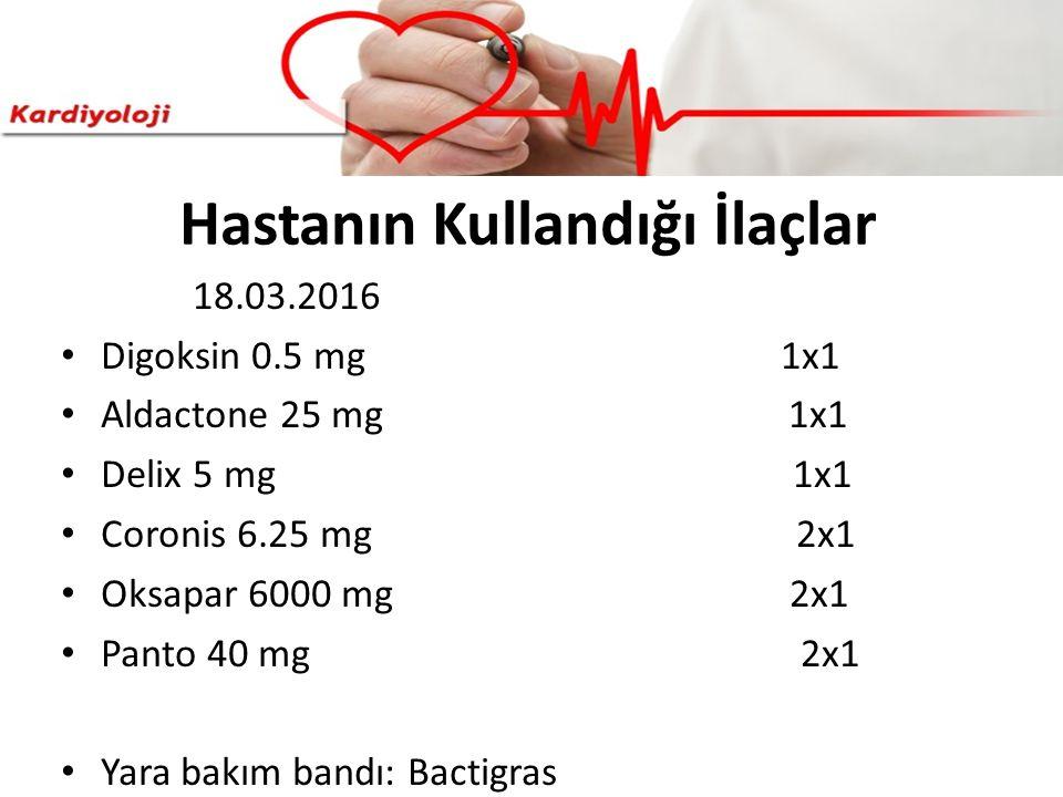 Hastanın Kullandığı İlaçlar