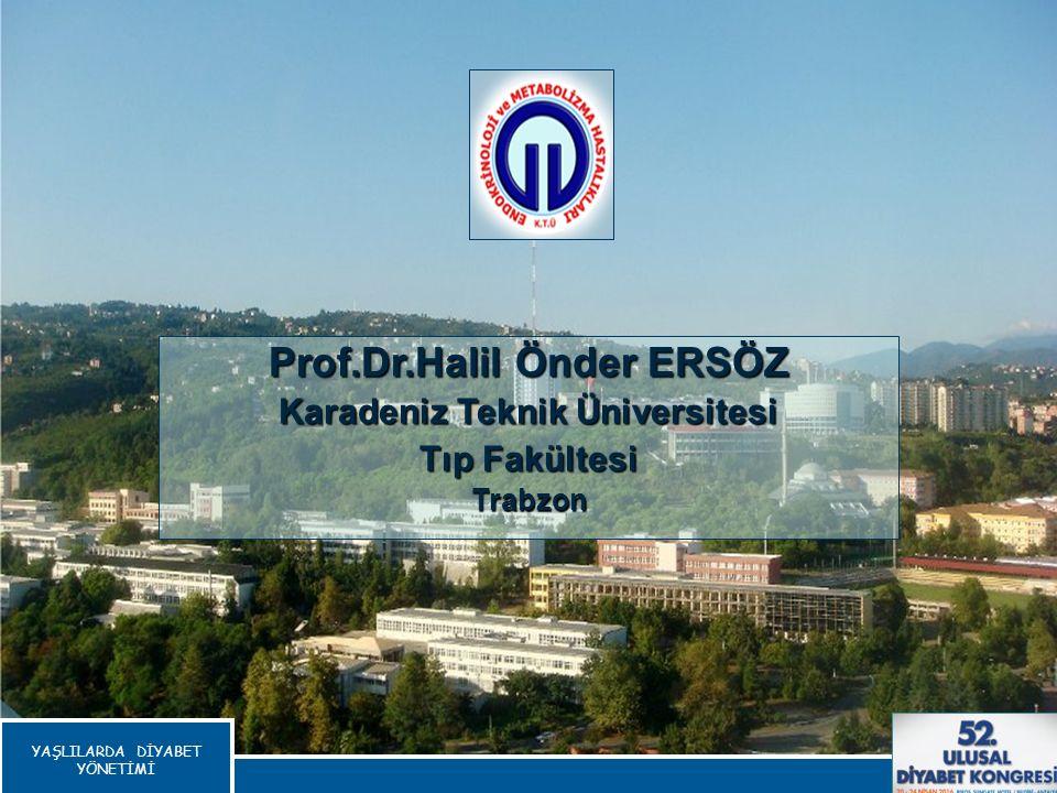 Prof.Dr.Halil Önder ERSÖZ Karadeniz Teknik Üniversitesi