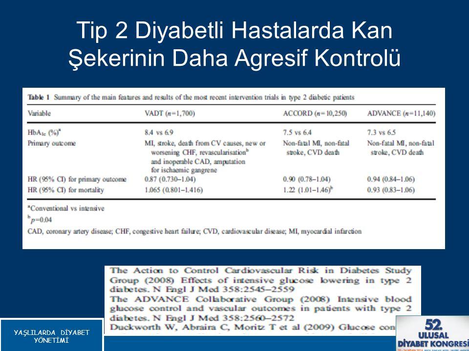 Tip 2 Diyabetli Hastalarda Kan Şekerinin Daha Agresif Kontrolü