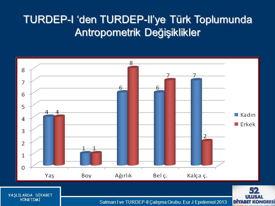 TURDEP-I 'den TURDEP-II'ye Türk Toplumunda Antropometrik Değişiklikler