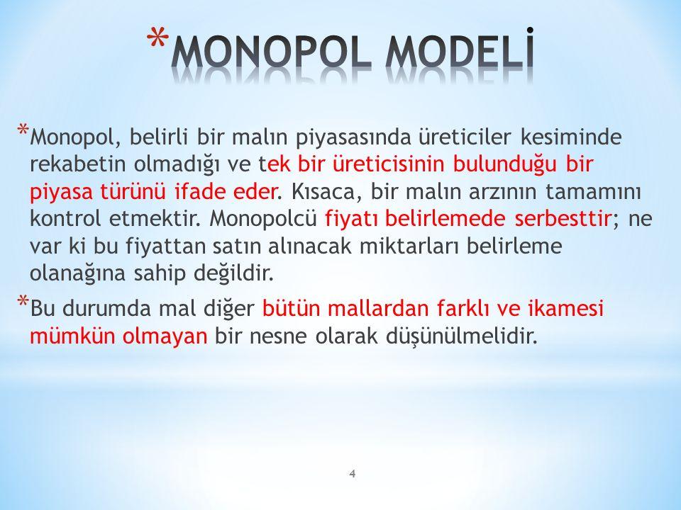 MONOPOL MODELİ