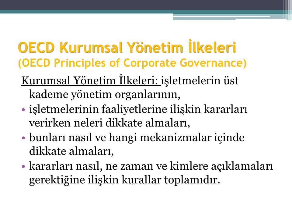 OECD Kurumsal Yönetim İlkeleri (OECD Principles of Corporate Governance)