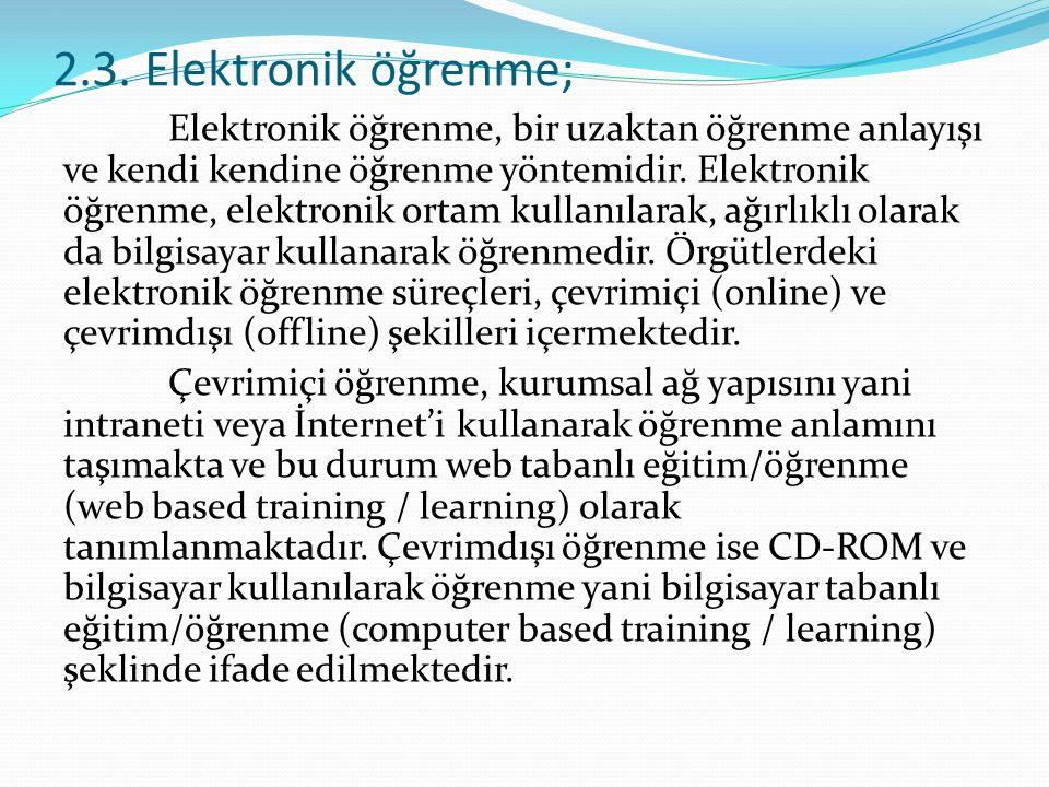 2.3. Elektronik öğrenme;