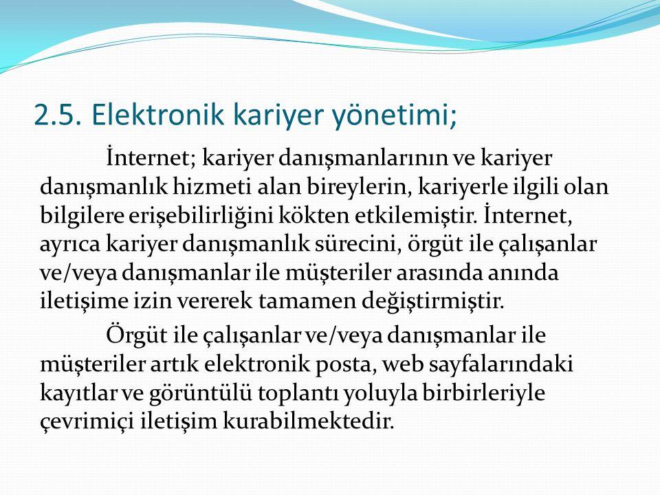 2.5. Elektronik kariyer yönetimi;