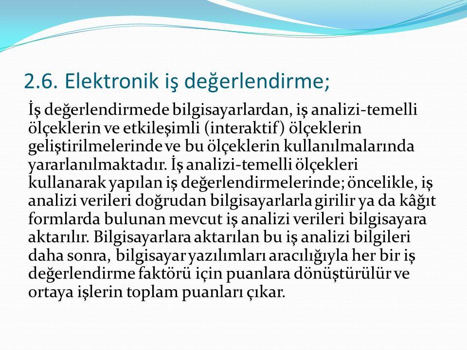 2.6. Elektronik iş değerlendirme;