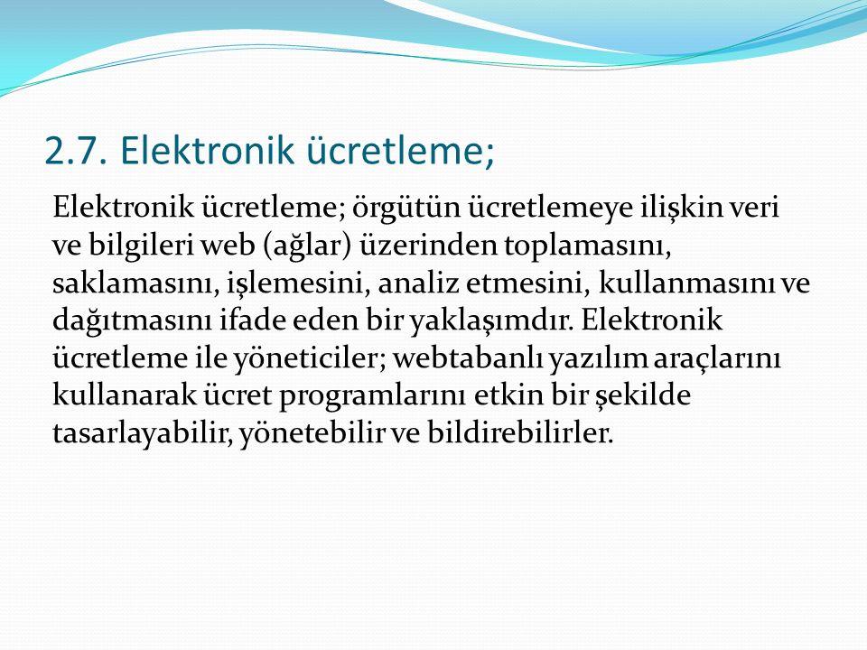 2.7. Elektronik ücretleme;