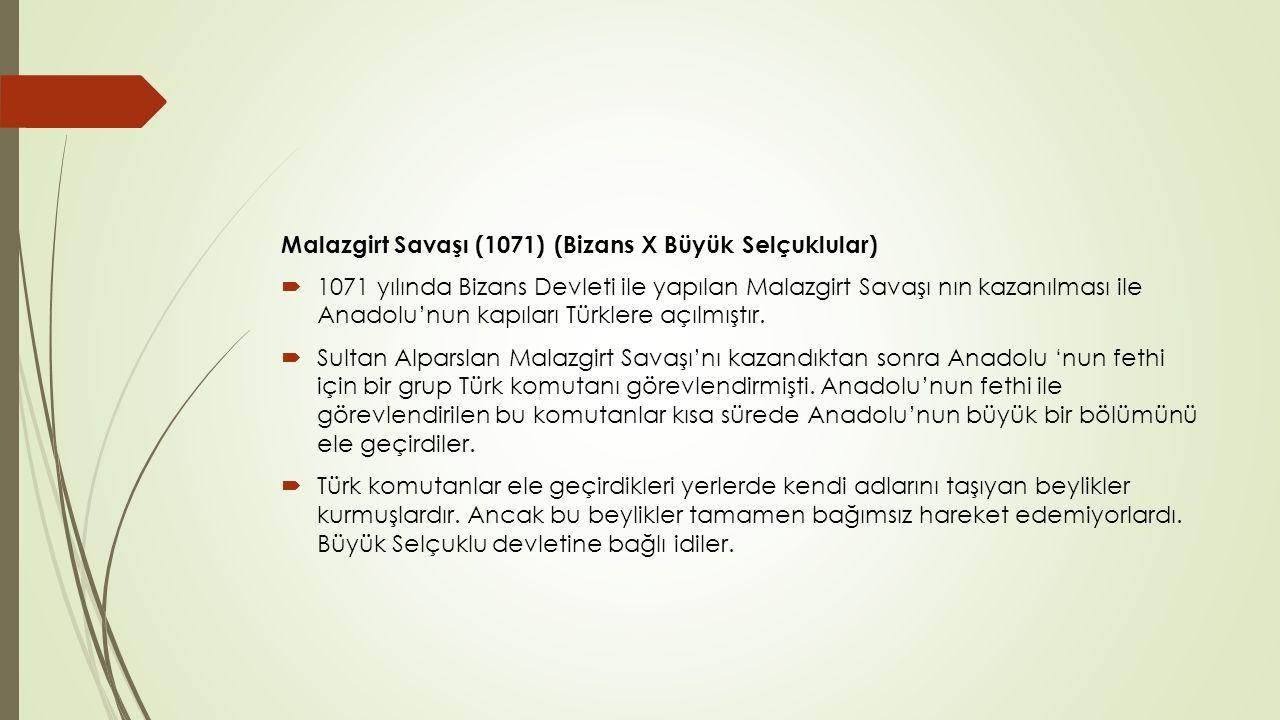 Malazgirt Savaşı (1071) (Bizans X Büyük Selçuklular)