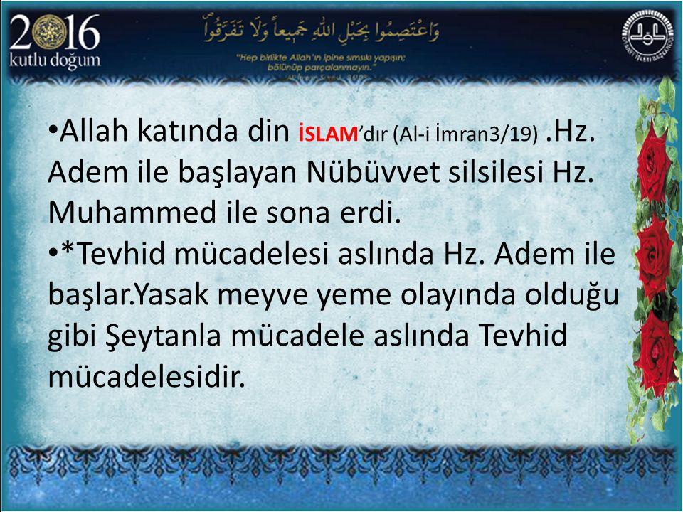 Allah katında din İSLAM'dır (Al-i İmran3/19). Hz