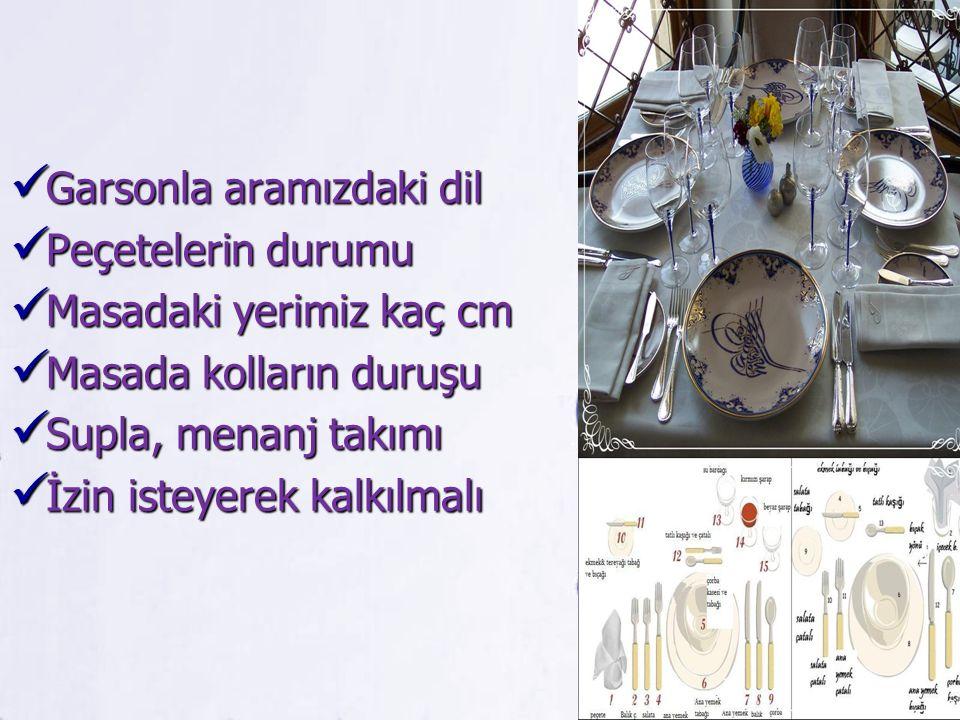 Garsonla aramızdaki dil