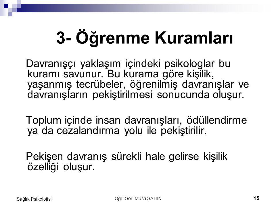 3- Öğrenme Kuramları