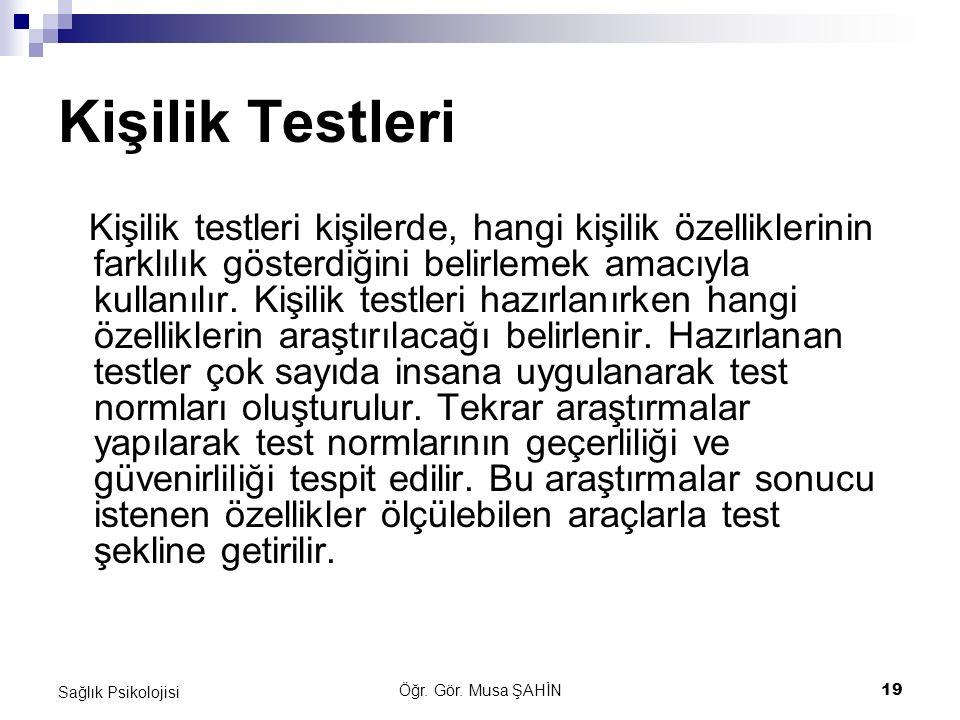 Kişilik Testleri