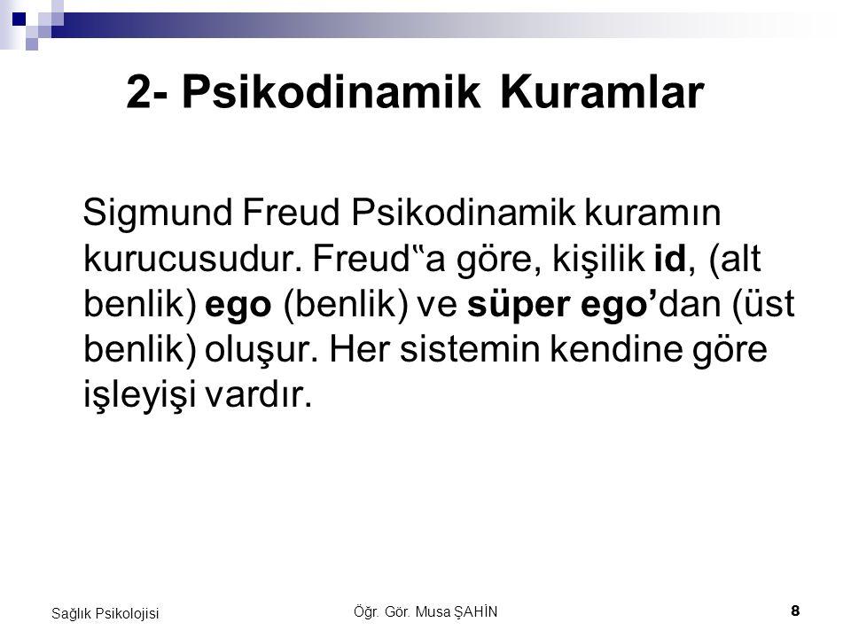 2- Psikodinamik Kuramlar