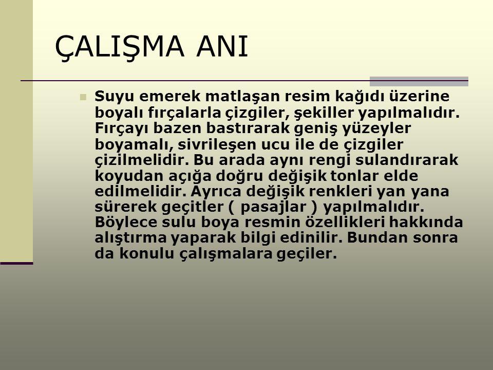 ÇALIŞMA ANI