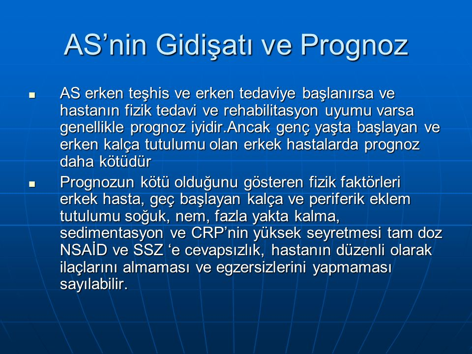 AS'nin Gidişatı ve Prognoz