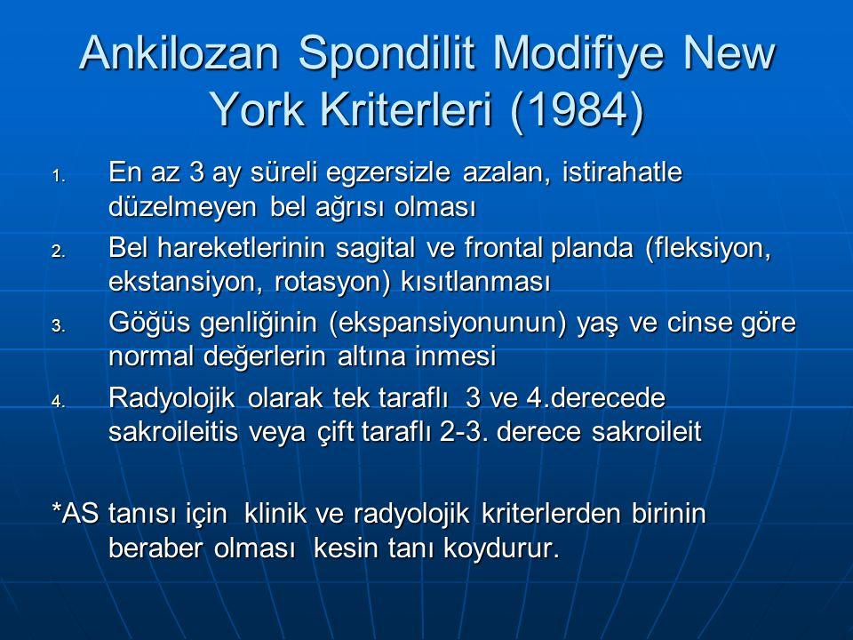 Ankilozan Spondilit Modifiye New York Kriterleri (1984)