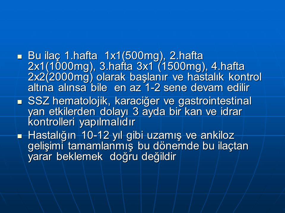 Bu ilaç 1. hafta 1x1(500mg), 2. hafta 2x1(1000mg), 3