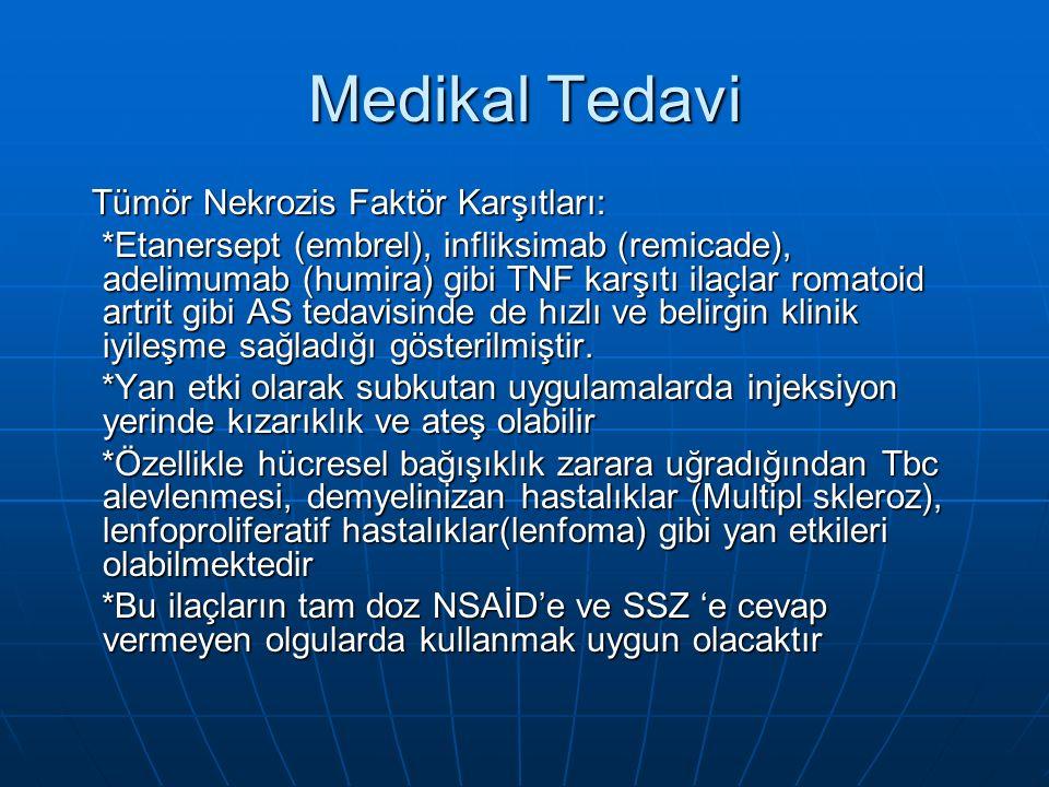 Medikal Tedavi Tümör Nekrozis Faktör Karşıtları: