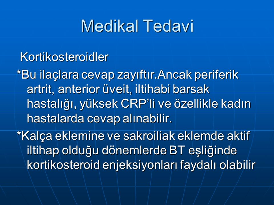 Medikal Tedavi Kortikosteroidler