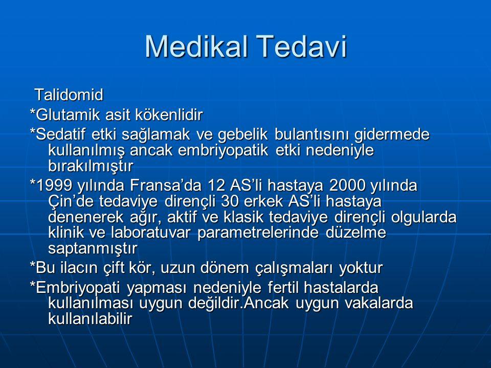 Medikal Tedavi Talidomid *Glutamik asit kökenlidir