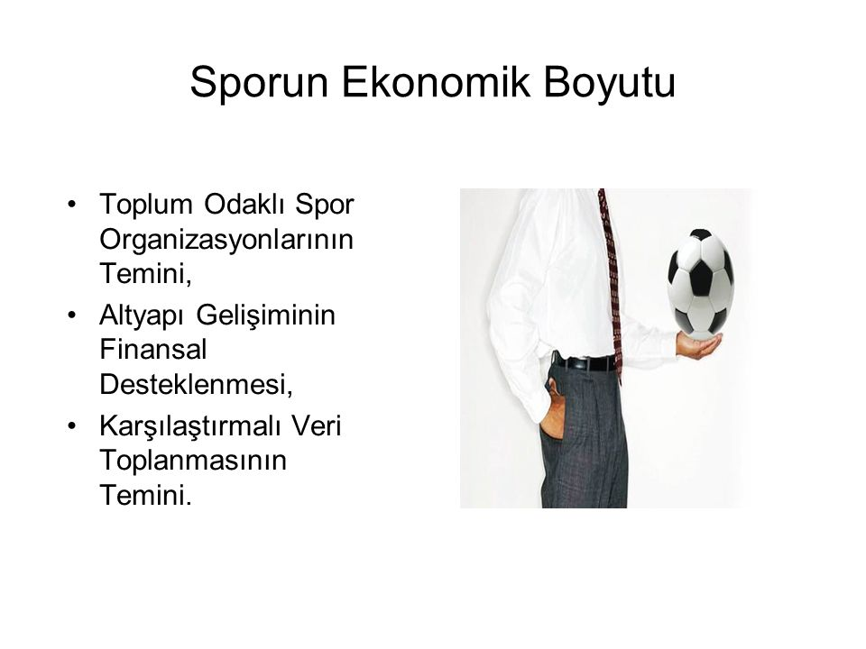 Sporun Ekonomik Boyutu