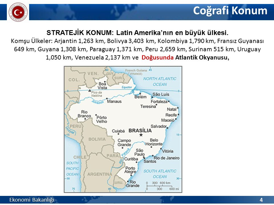 STRATEJİK KONUM: Latin Amerika'nın en büyük ülkesi.