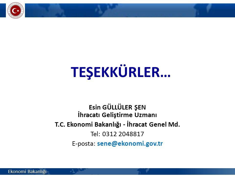 İhracatı Geliştirme Uzmanı T.C. Ekonomi Bakanlığı - İhracat Genel Md.