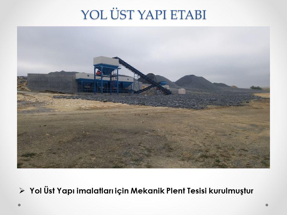 YOL ÜST YAPI ETABI Yol Üst Yapı imalatları için Mekanik Plent Tesisi kurulmuştur