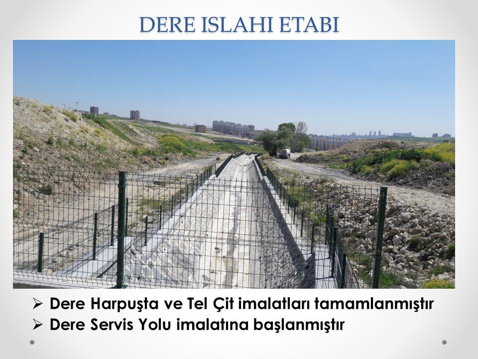 DERE ISLAHI ETABI Dere Harpuşta ve Tel Çit imalatları tamamlanmıştır