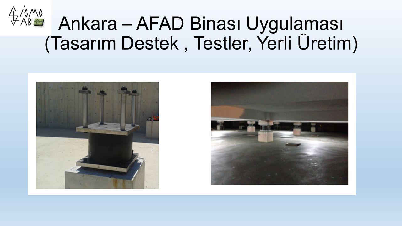 Ankara – AFAD Binası Uygulaması (Tasarım Destek , Testler, Yerli Üretim)