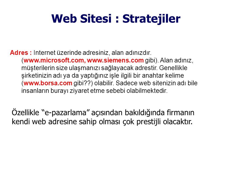 Web Sitesi : Stratejiler