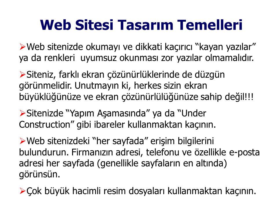 Web Sitesi Tasarım Temelleri