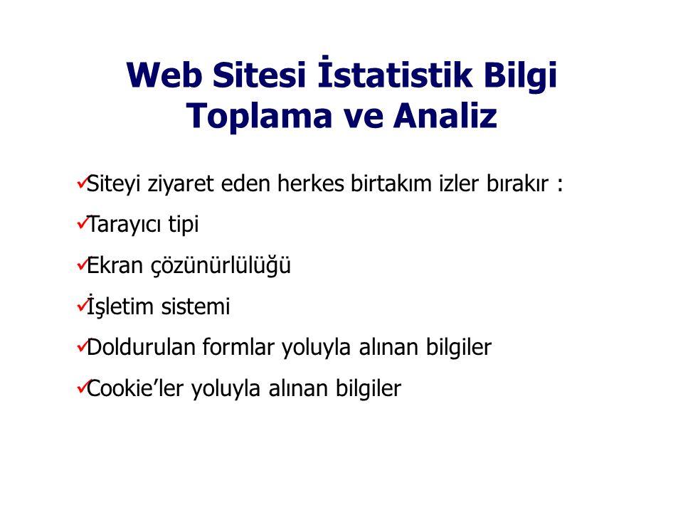 Web Sitesi İstatistik Bilgi Toplama ve Analiz