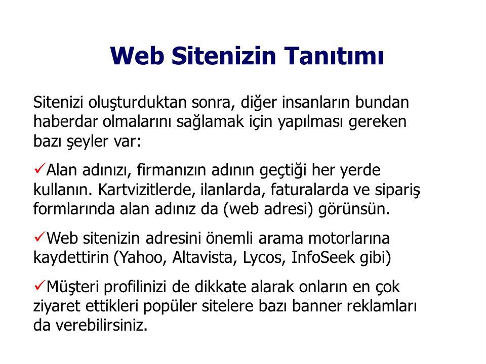 Web Sitenizin Tanıtımı