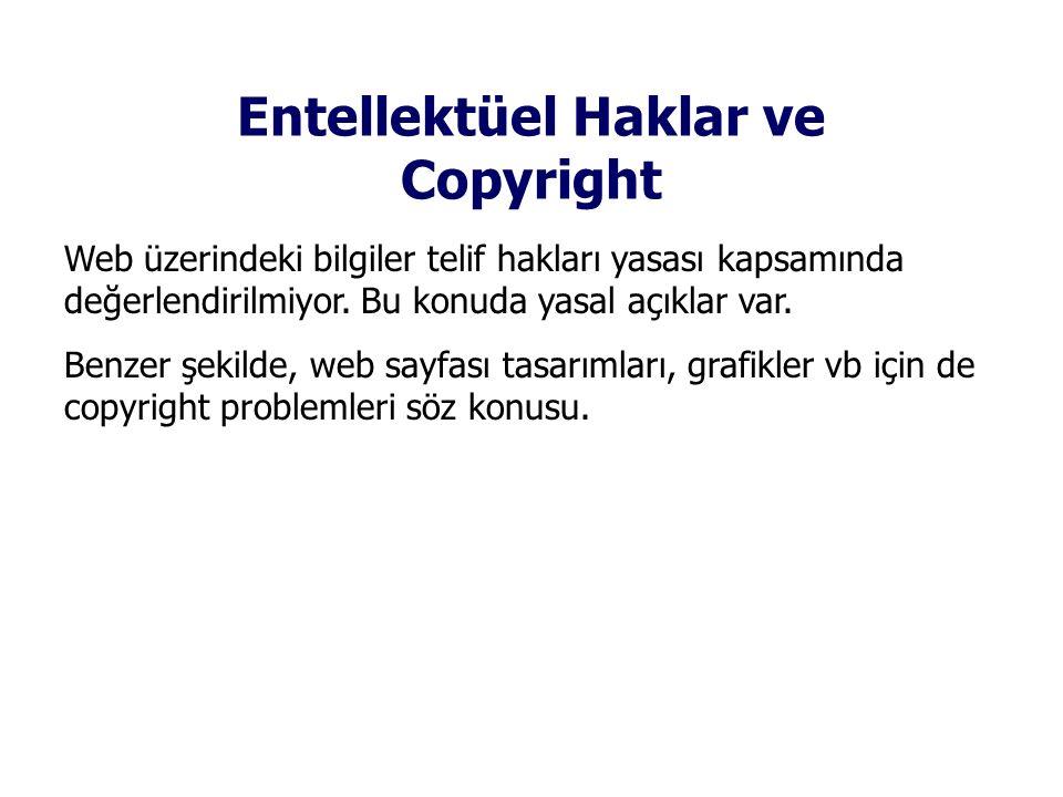 Entellektüel Haklar ve Copyright