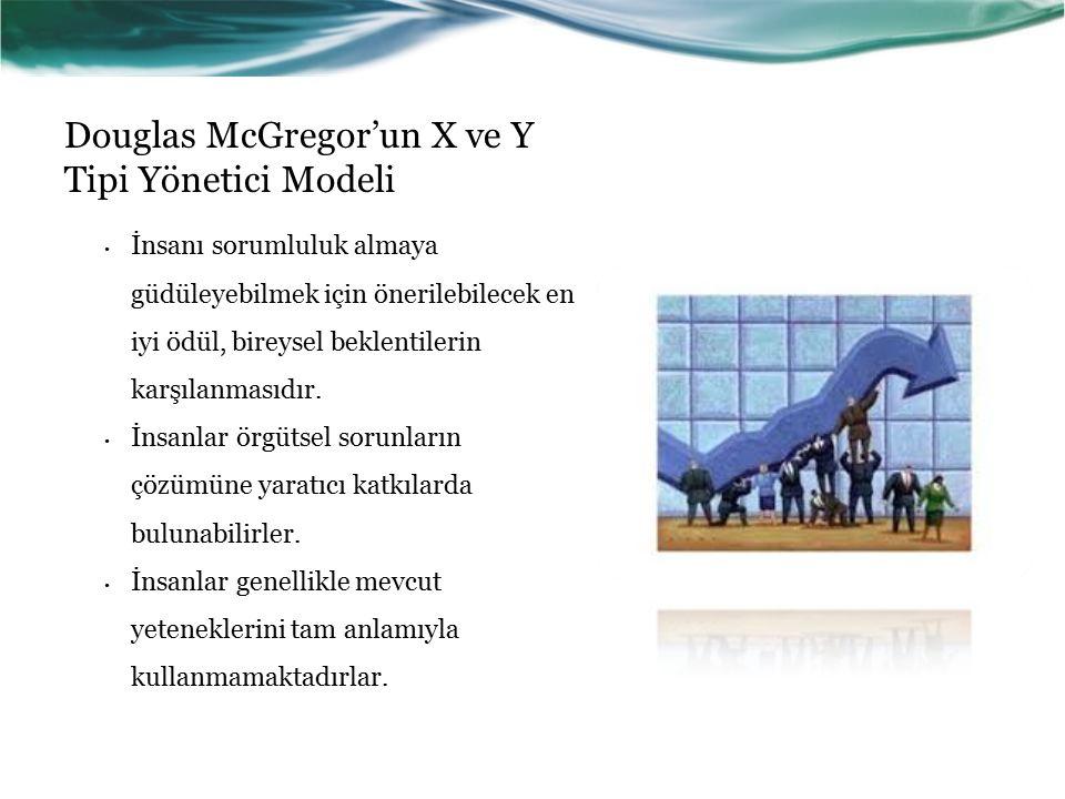 Douglas McGregor'un X ve Y Tipi Yönetici Modeli