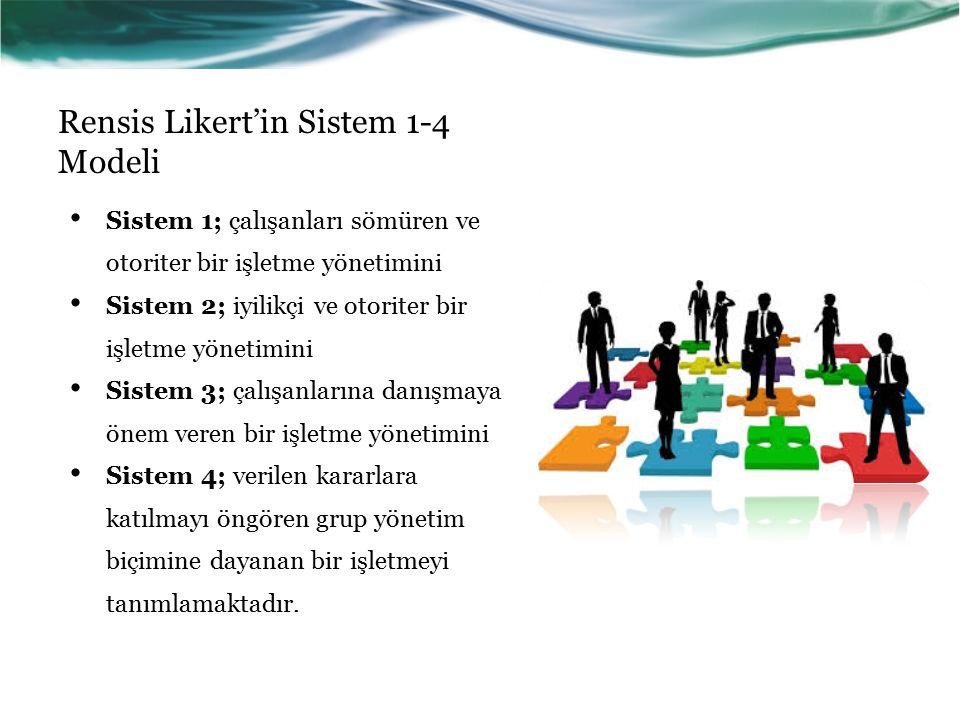 Rensis Likert'in Sistem 1-4 Modeli