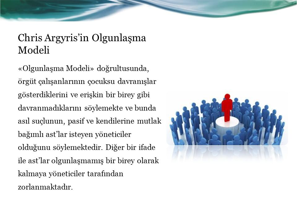 Chris Argyris'in Olgunlaşma Modeli