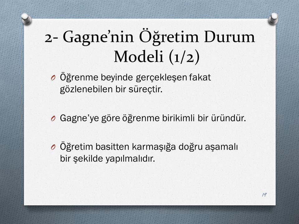 2- Gagne'nin Öğretim Durum Modeli (1/2)