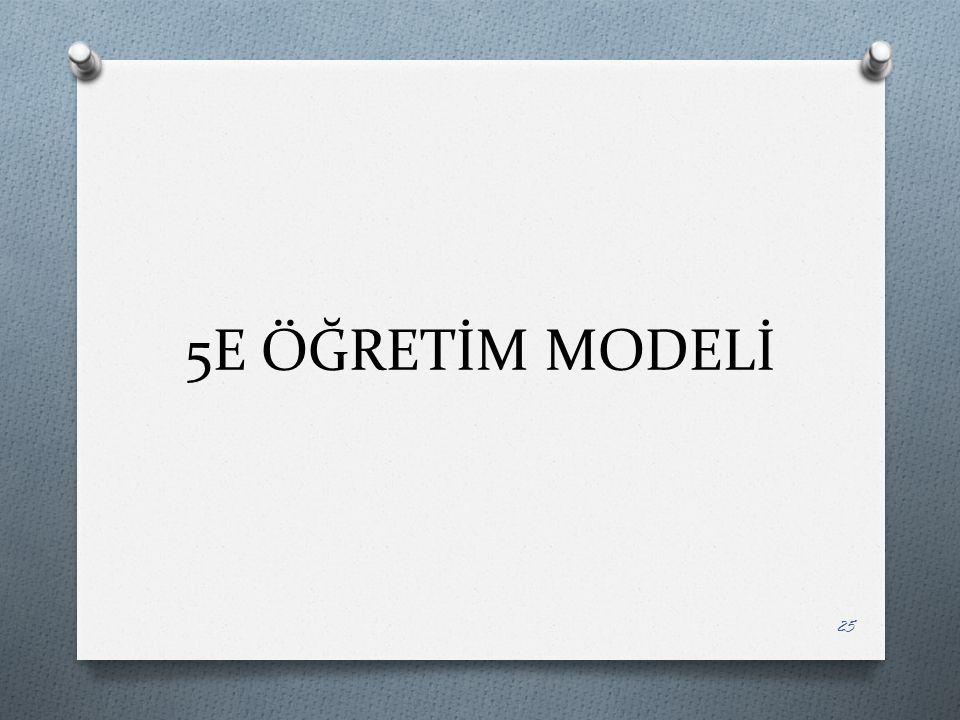 5E ÖĞRETİM MODELİ