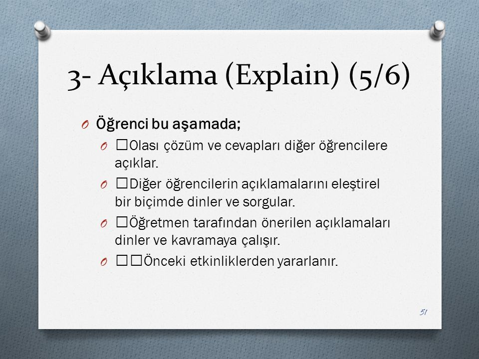 3- Açıklama (Explain) (5/6)