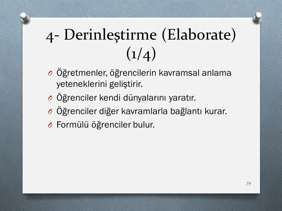 4- Derinleştirme (Elaborate) (1/4)