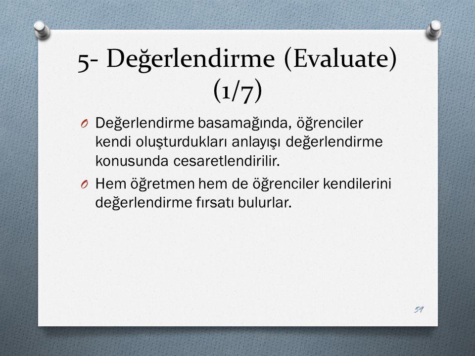 5- Değerlendirme (Evaluate) (1/7)