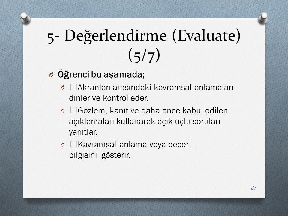 5- Değerlendirme (Evaluate) (5/7)