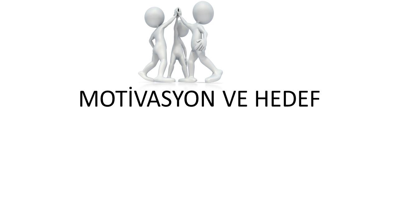MOTİVASYON VE HEDEF