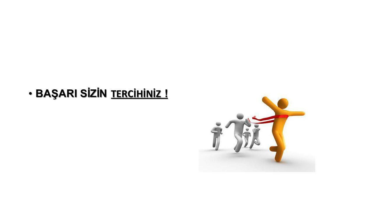 BAŞARI SİZİN TERCİHİNİZ !