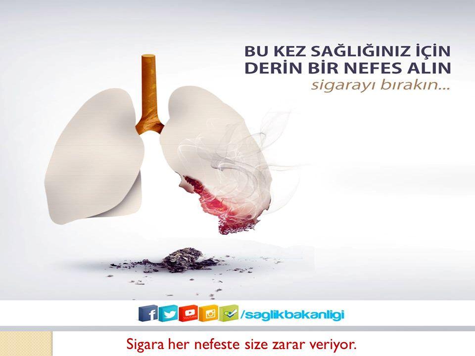 Sigara her nefeste size zarar veriyor.
