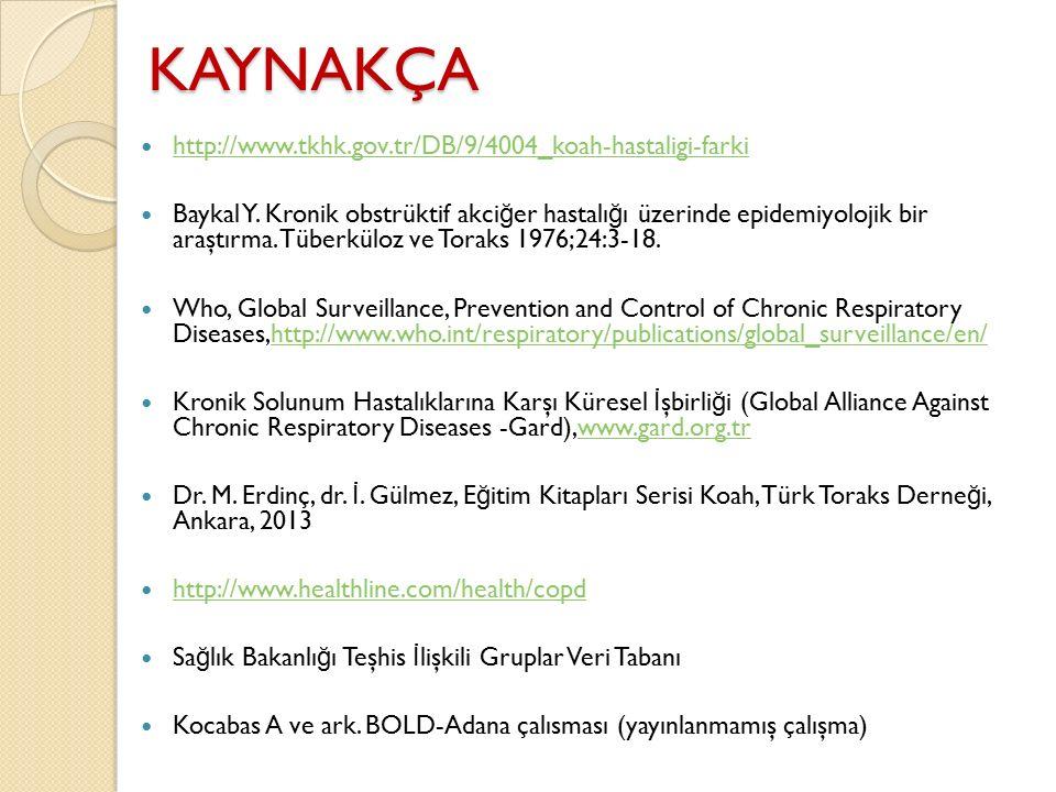 KAYNAKÇA http://www.tkhk.gov.tr/DB/9/4004_koah-hastaligi-farki
